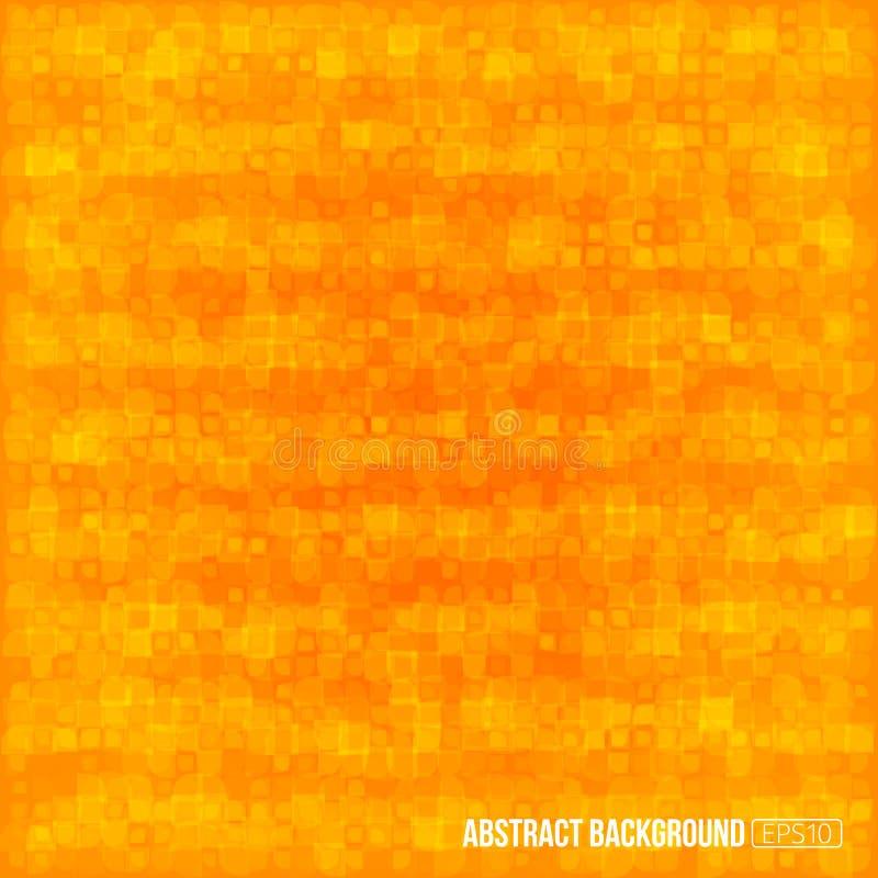 Orange modern geometrisk abstrakt bakgrund royaltyfria bilder