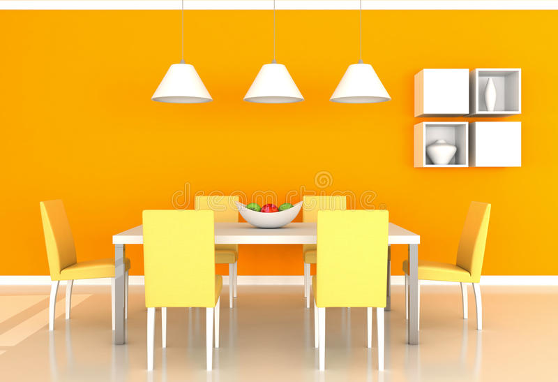 download orange modernes esszimmer stock abbildung illustration von haupt 19607241 - Esszimmer Orange