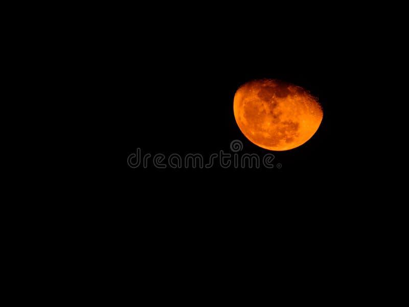 Orange Mond lizenzfreie stockfotografie