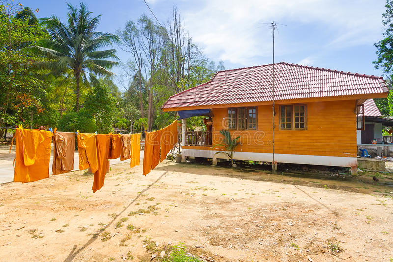 Download Orange Monk Clothes Drying On The Sun Stock Image - Image: 29698591