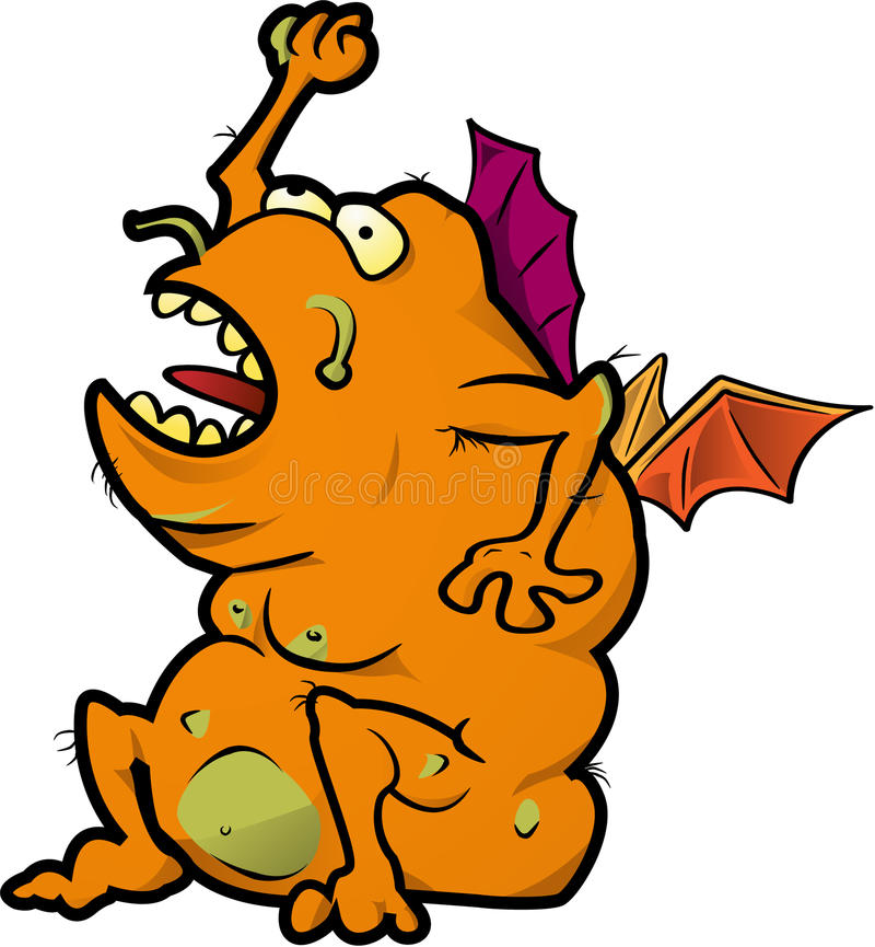 Orange Monster Royalty Free Stock Images