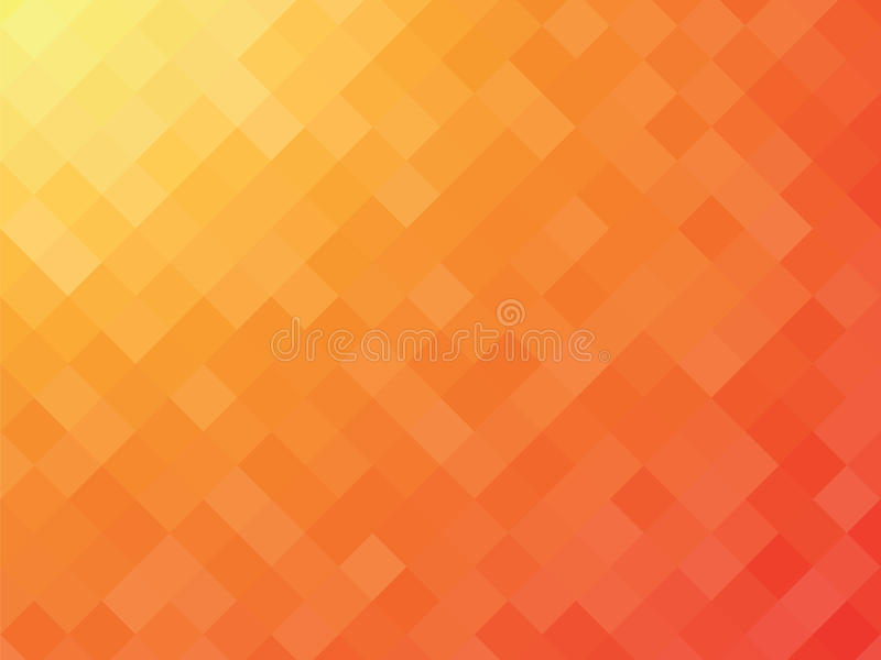 Orange mosaic background royalty free illustration