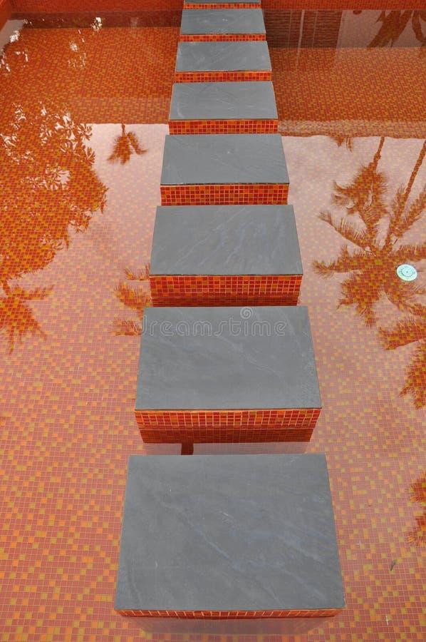 Orange Mosaik-Fliese lizenzfreies stockfoto