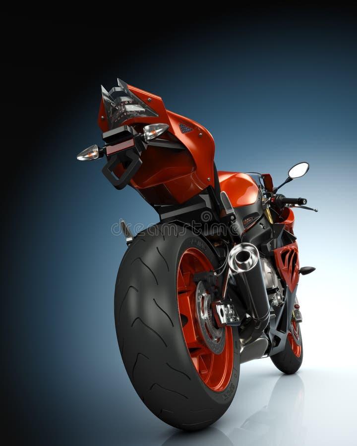 Orange motorcykel stock illustrationer