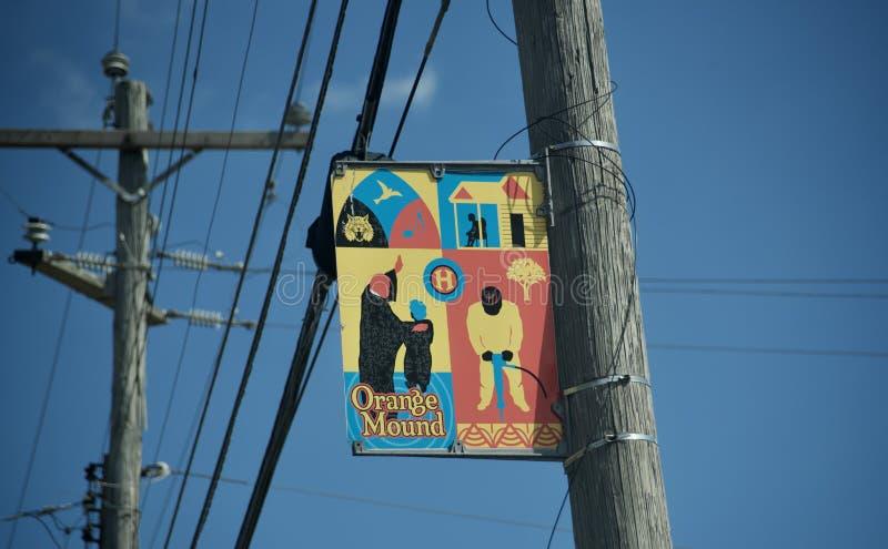 Orange Mound Community Marker, Memphis, TN royalty free stock photo
