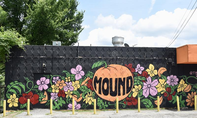 Orange Mound Mural Unfiltered, Memphis, TN royalty free stock images