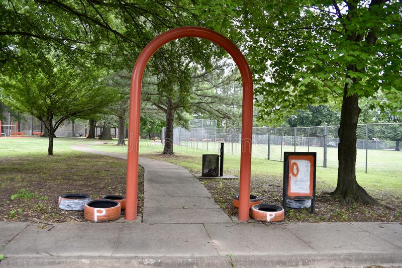 Orange Mound Park Entrance, Memphis, TN stock photos