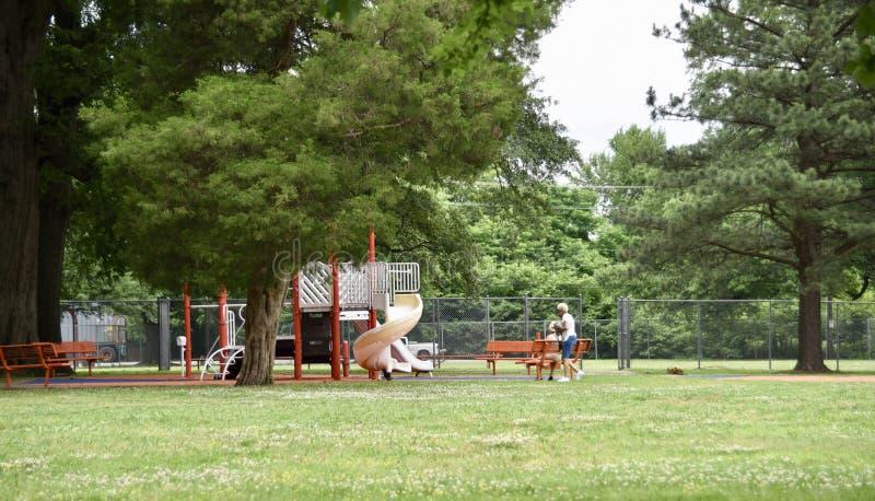 Orange Mound Park Playground, Memphis, TN stock images