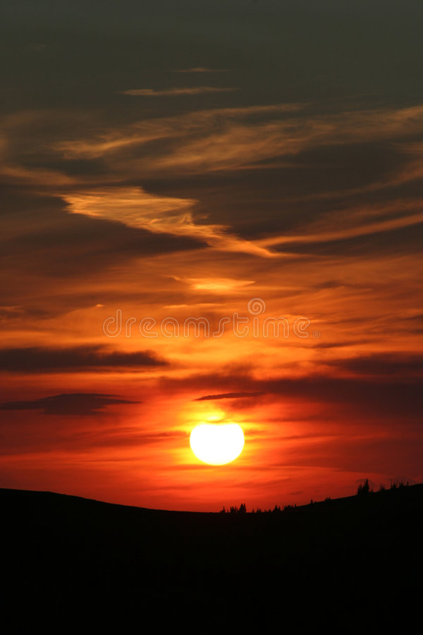 Free Orange Mountain Sunset Stock Images - 39854