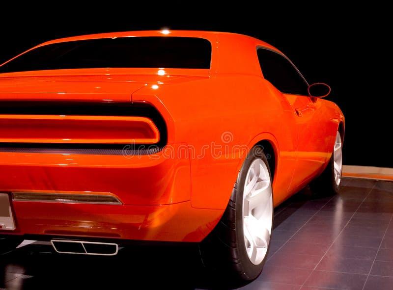 Orange Muscle Car royalty free stock photo