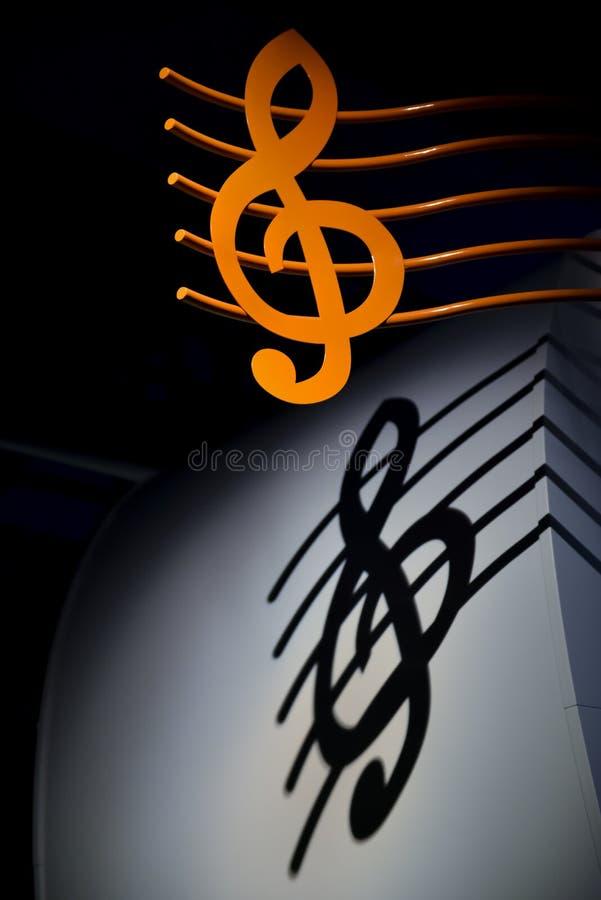 Nyckel- musik royaltyfri foto