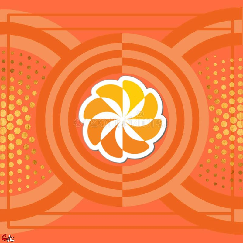 Orange Muster 2 stockbilder