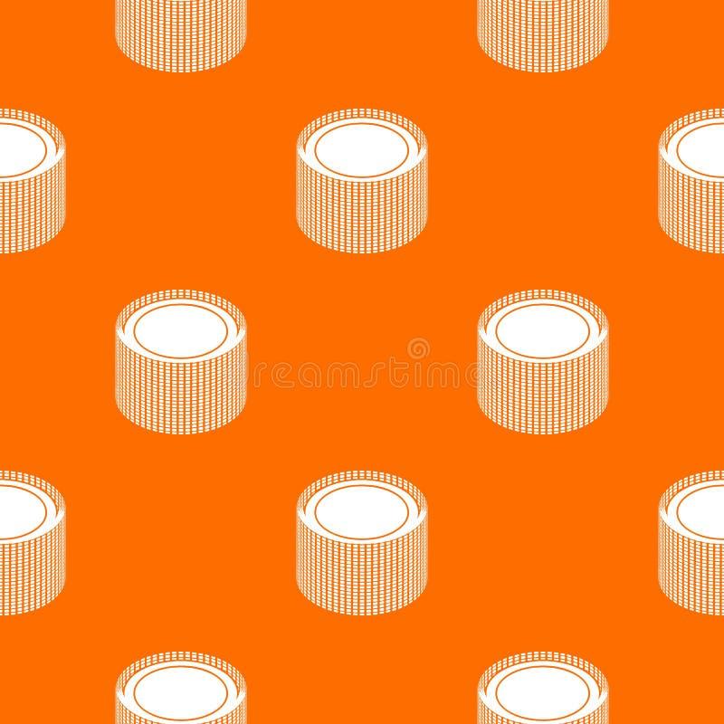 Orange nette de construction de vecteur de modèle de petit pain illustration stock