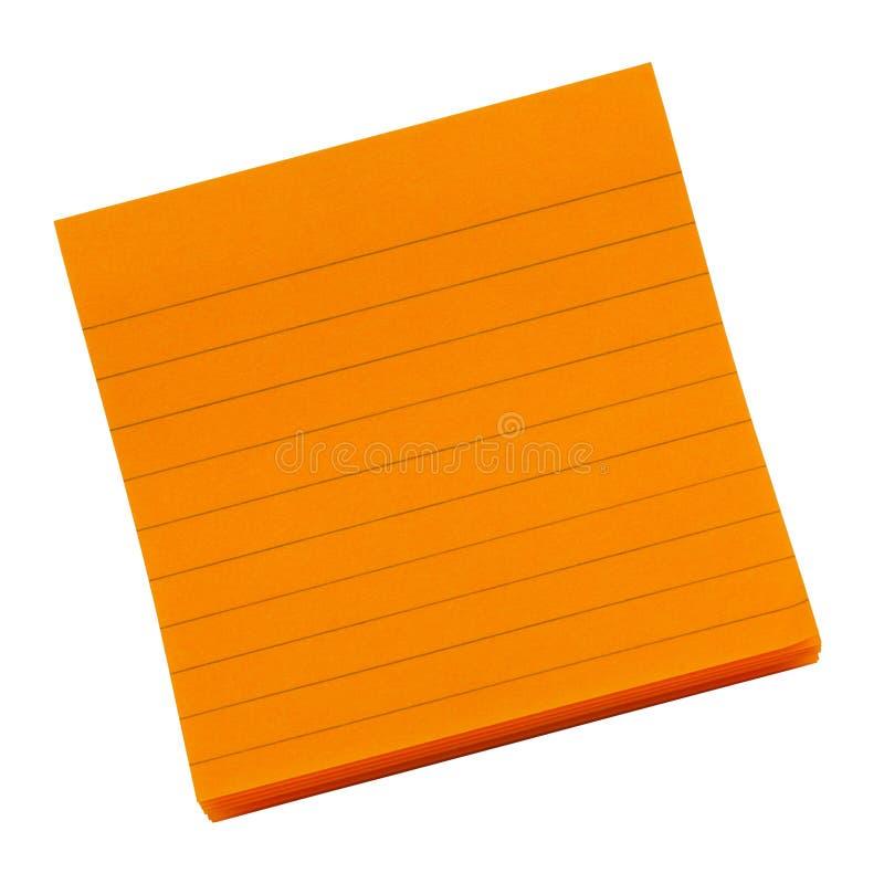 Download Orange note stock photo. Image of adhesive, orange, attach - 33214544