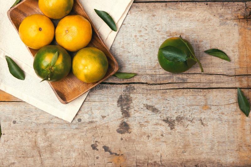 Orange nya tangerin Förberedelseingrediens för framställning av apelsinen royaltyfri foto