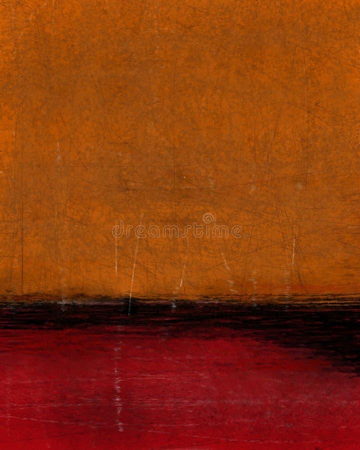 Orange och röda abstrakta Art Painting arkivfoton