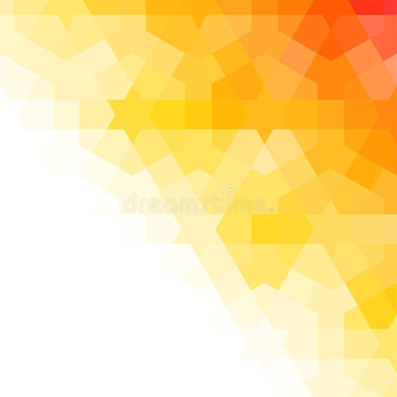 Orange och vit arabisk bakgrund royaltyfri illustrationer