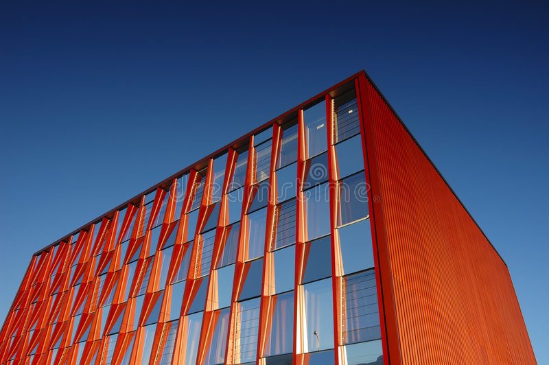 Download Orange office block stock photo. Image of commercial, clean - 2689894