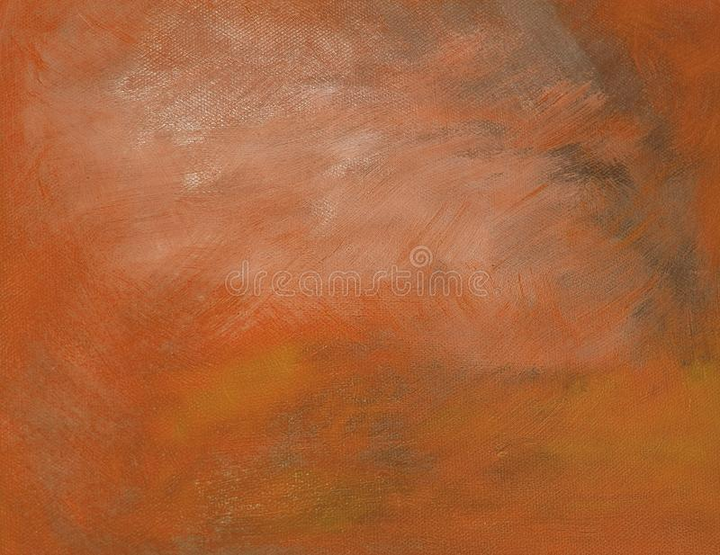 Orange oil painting canvas. Background copy space texture royalty free stock photography