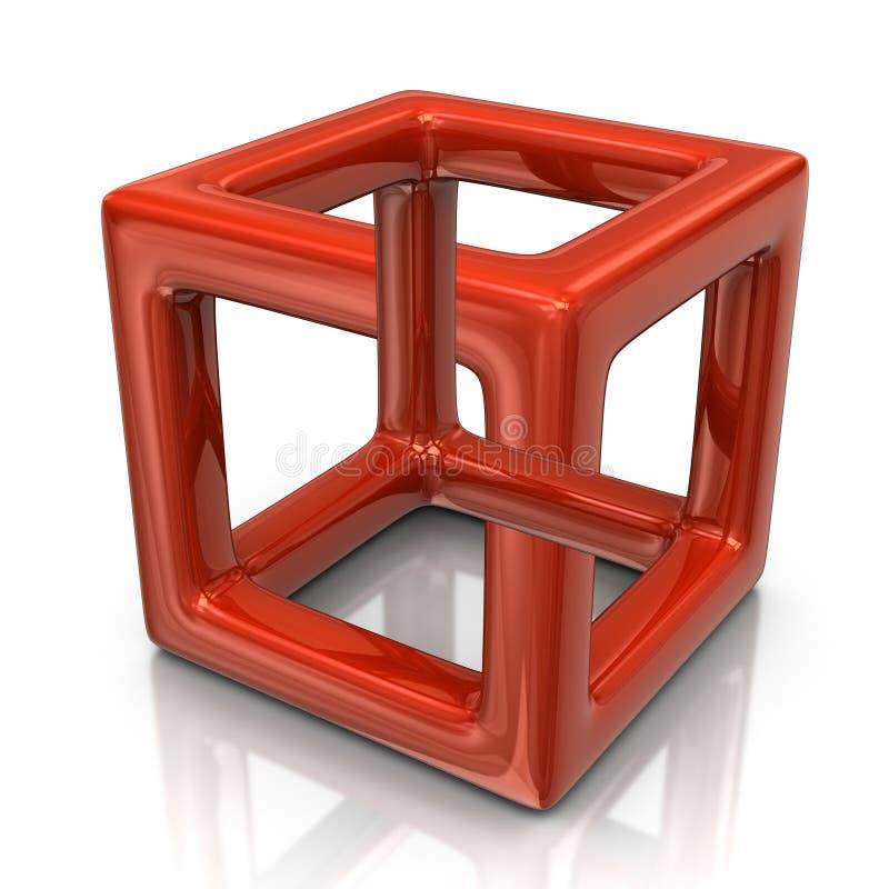 Orange optisk illusion vektor illustrationer