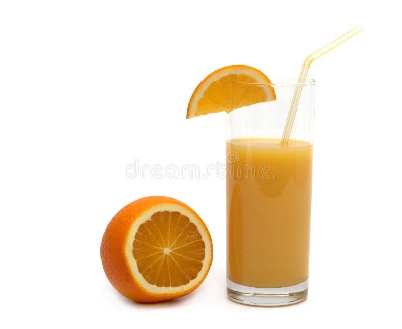 Orange and orange juice stock photography