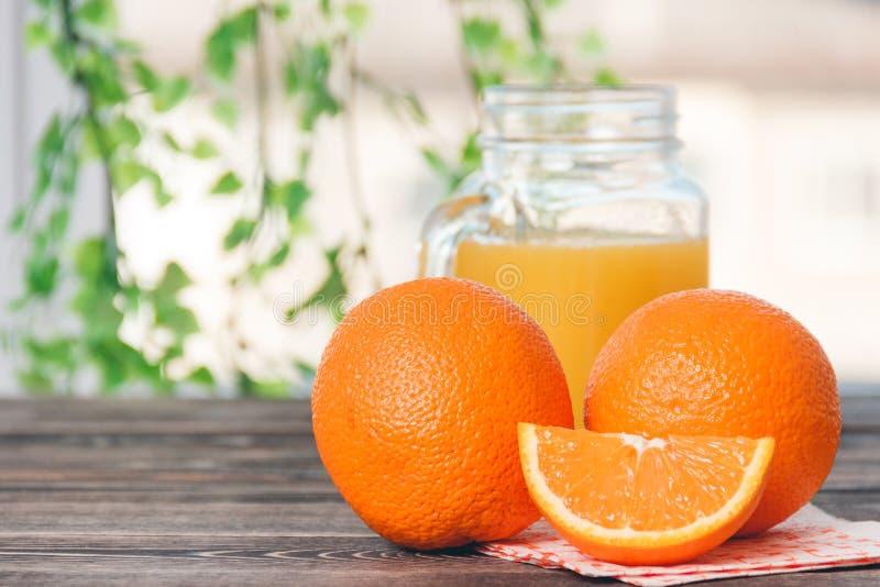 Orange, Orange Lobule. Healthy Lifestyle Concept. Orange, Orange Lobule on the Wooden Table. Healthy Lifestyle Concept stock image