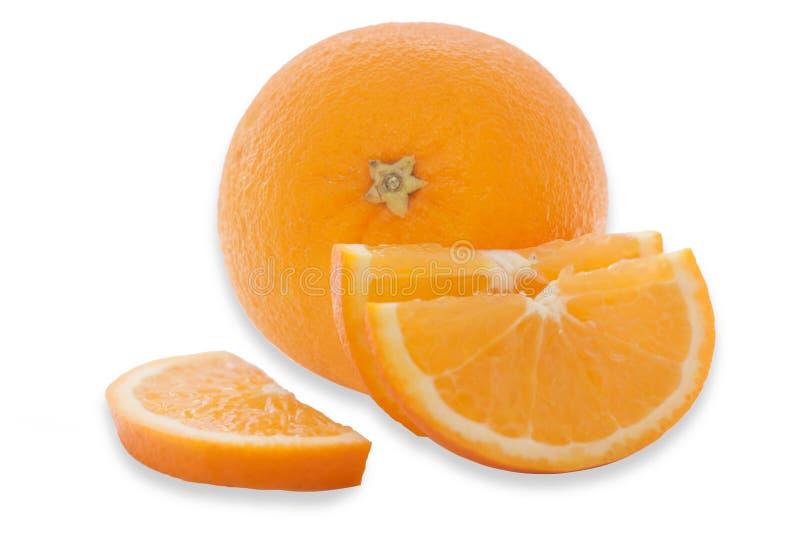 Fresh Orange photo isolated white background royalty free stock photos