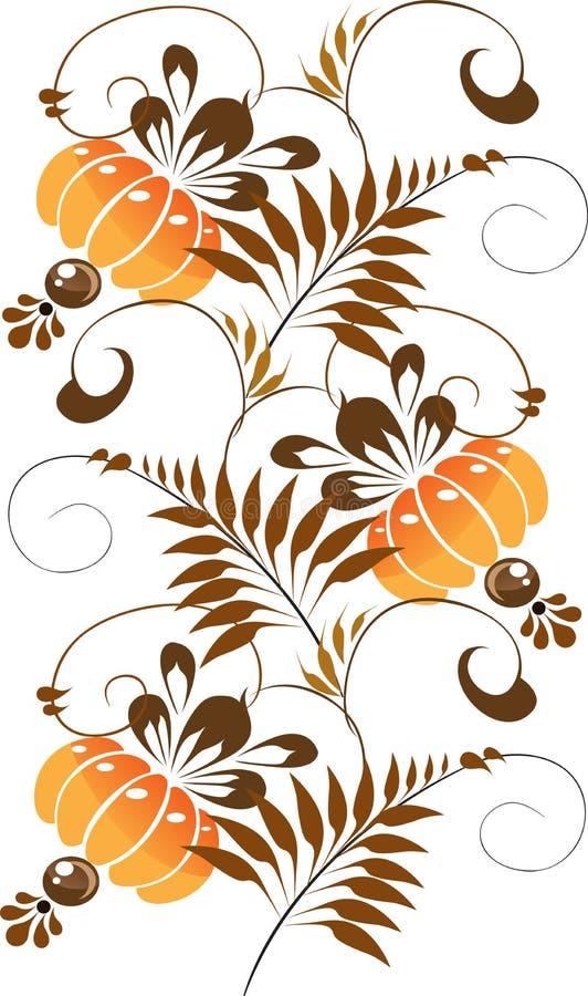 Orange ornament on a white background royalty free stock image