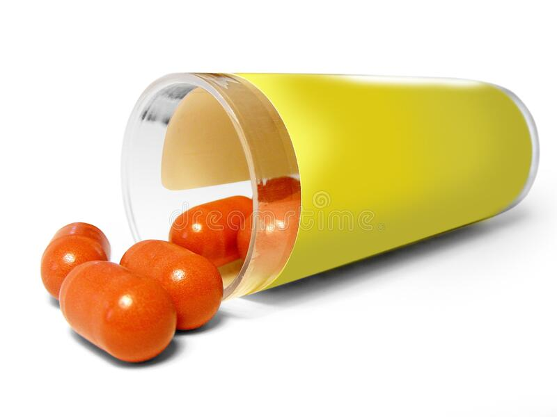 Orange Oval Pills Free Public Domain Cc0 Image