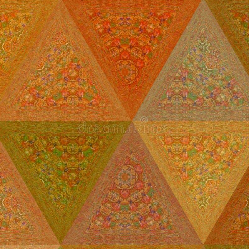Orange pâle abstrait et le beige colore la bannière géométrique de triangle images libres de droits