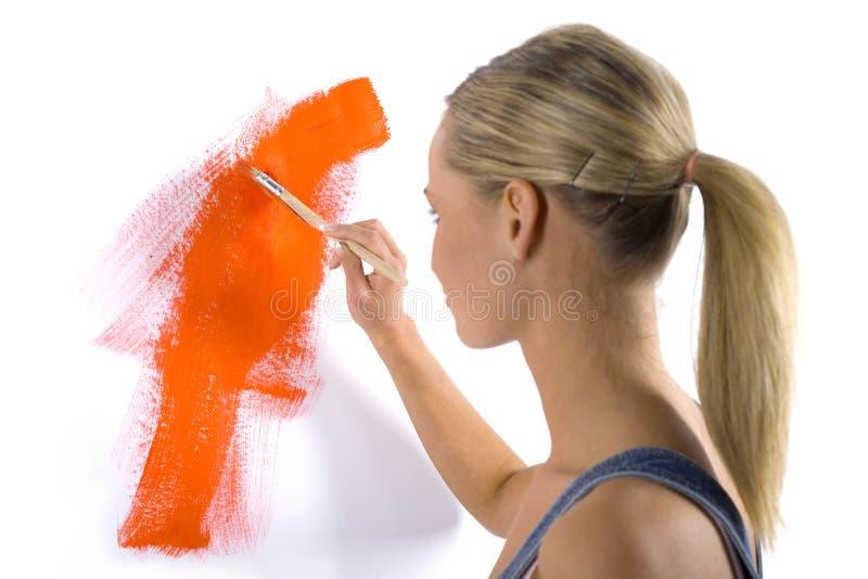 Orange paint royalty free stock images