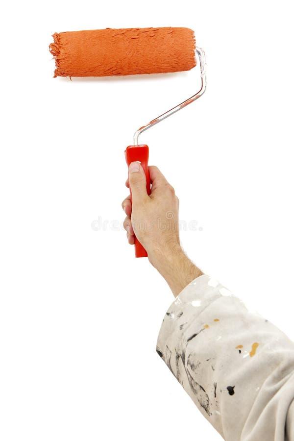 Free Orange Paint Roller Stock Photography - 23543652