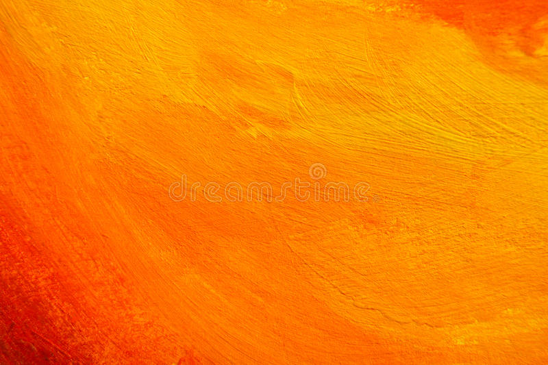 Orange painted texture. Orange texture. hand painted background royalty free stock photography
