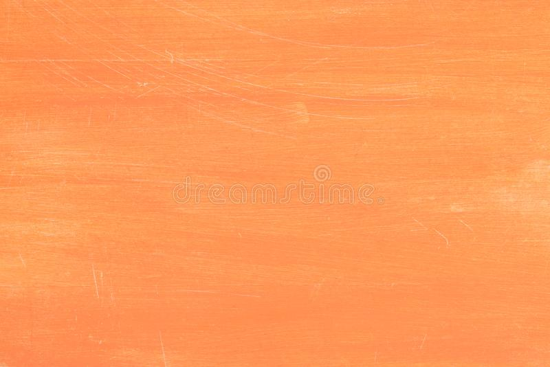 Orange painted wooden background texture stock image
