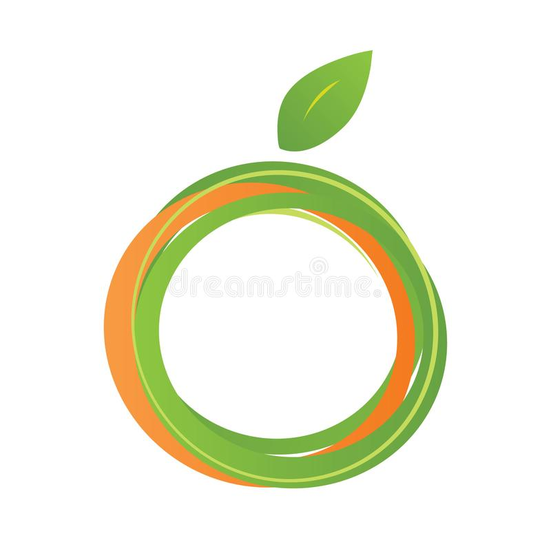 Orange Pampelmusen-Vektor Logo Design lizenzfreies stockfoto