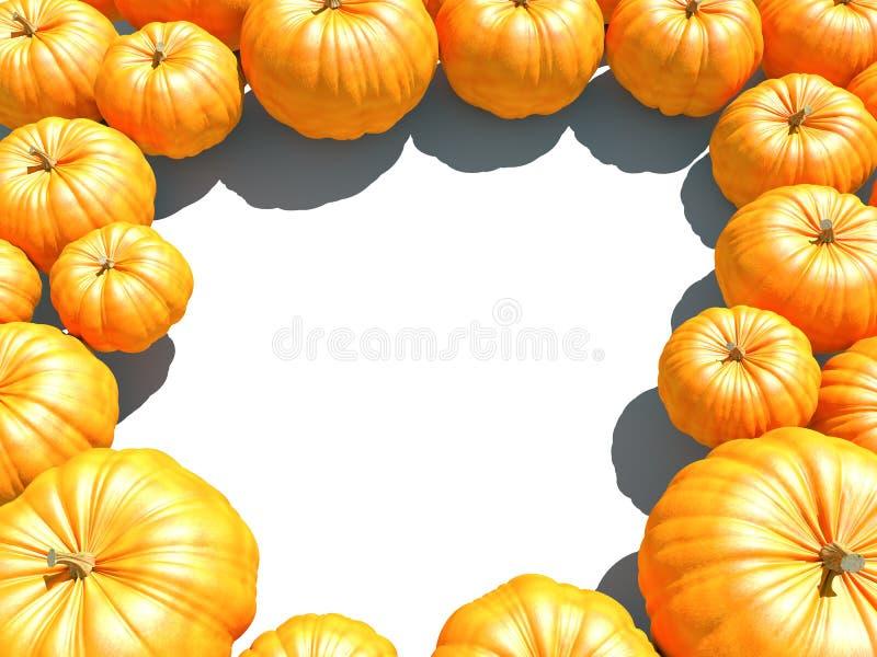 Orange panpkin Rahmen-Herbsthintergrund stock abbildung