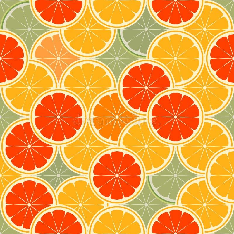Orange paradise royalty free illustration