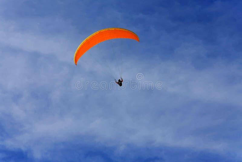 Download Orange paraglide stock photo. Image of parachute, hanging - 7338950