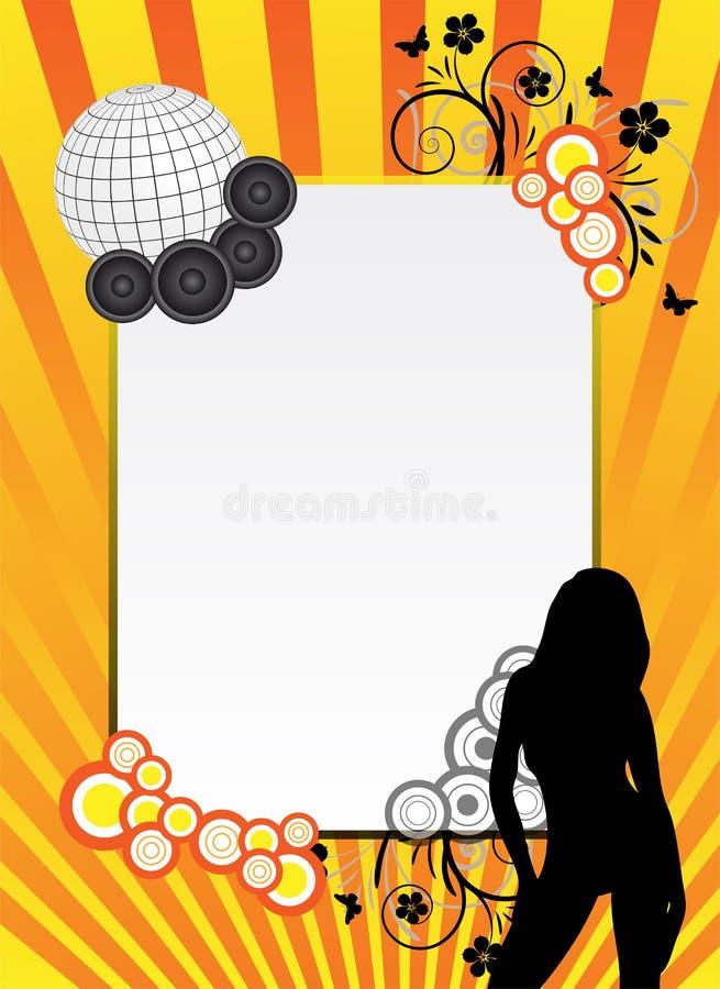 Download Orange party background stock illustration. Illustration of beam - 9757670