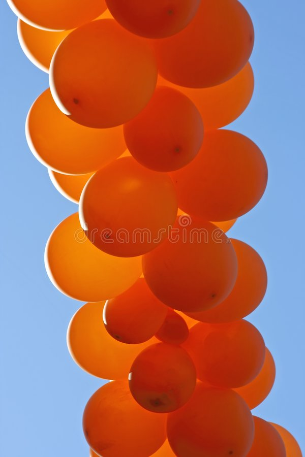 Download Orange  party balloons stock photo. Image of blue, orange - 2371928