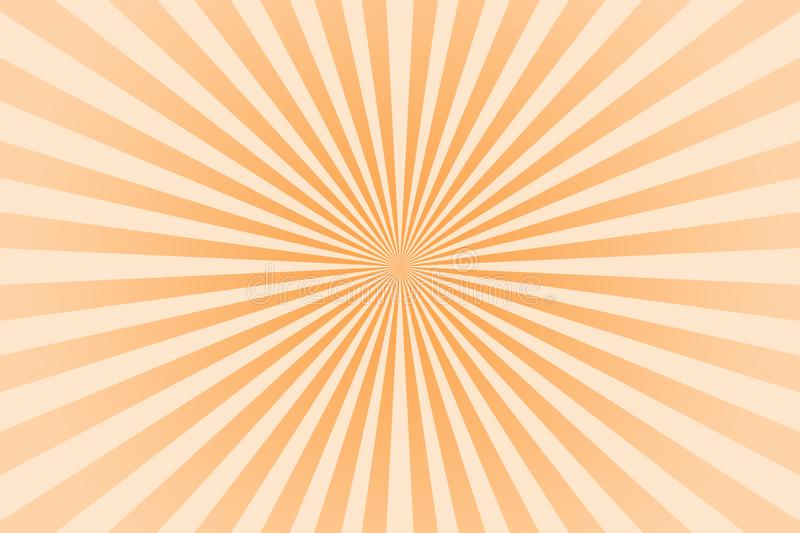 Orange pastel color rays abstract background vector illustration