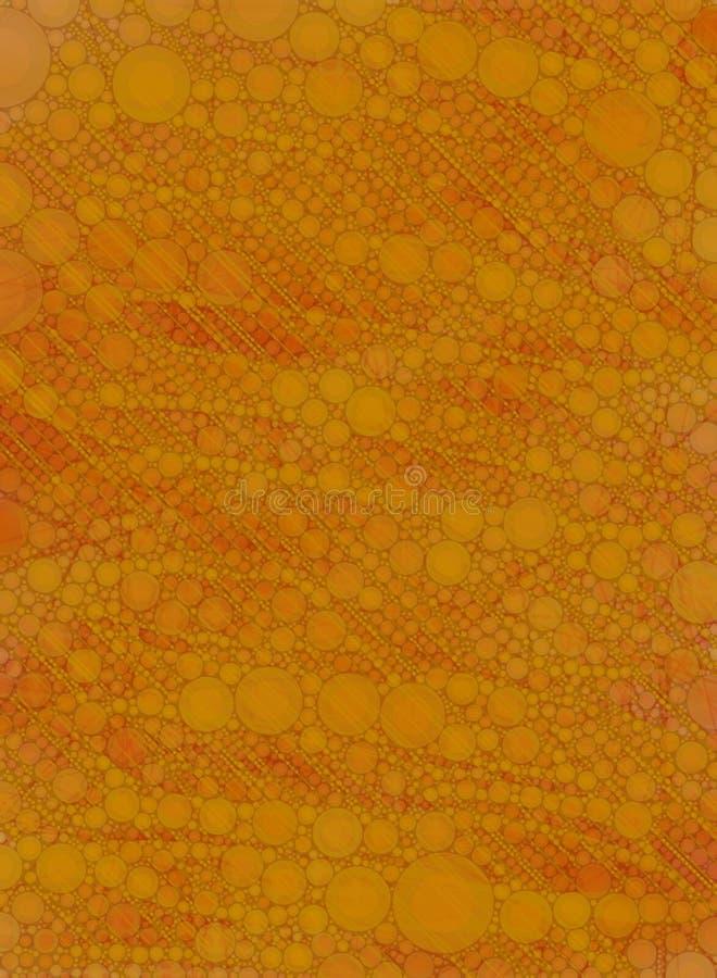 Orange Patterned Wallpaper Stock Image