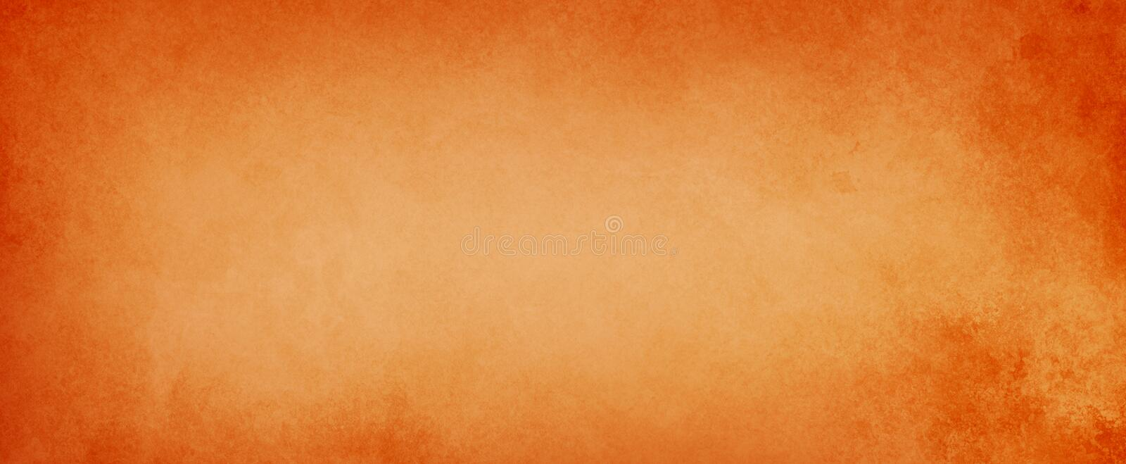 Orange and peach background with old distressed grunge textured borders in elegant vintage paper illustration royalty free stock image