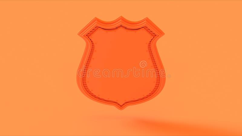 Orange Peach Shield Badge royalty free stock photos