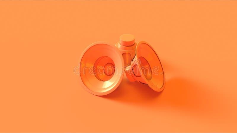 Orange / Peach Speakers stock photo