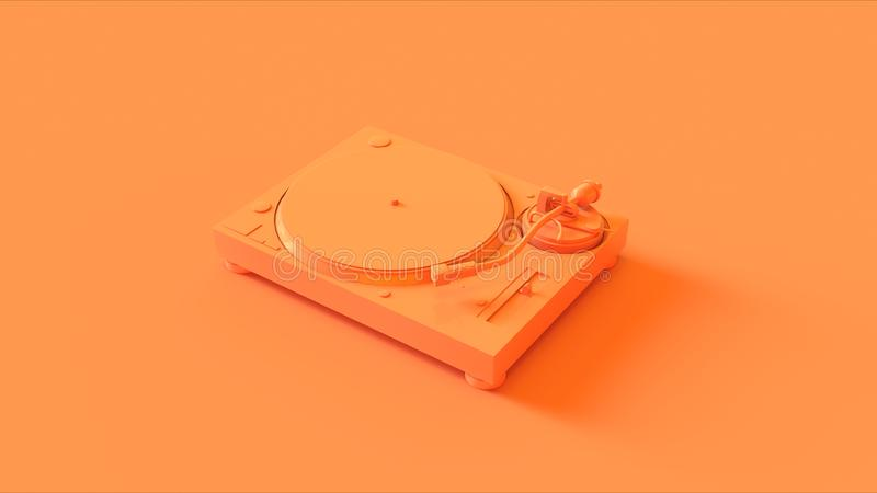 Orange / Peach Turntable / Record Player stock images