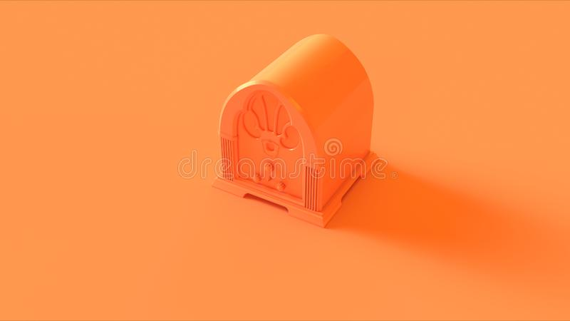 Orange / Peach Vintage Radio stock images