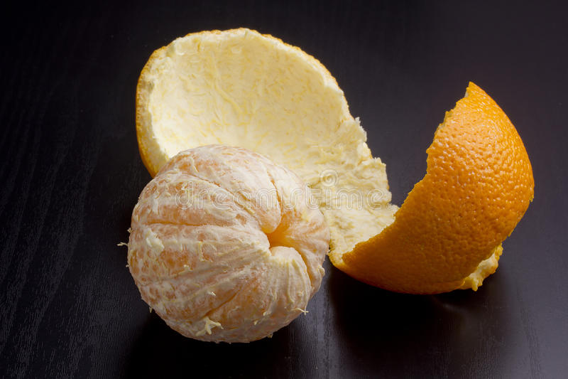 Orange peel royalty free stock photography