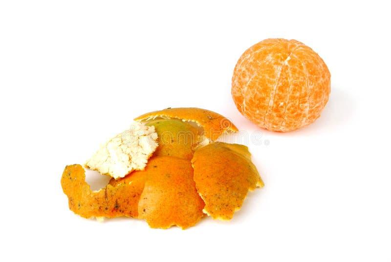 Orange peel. Orange peel on white background stock photo
