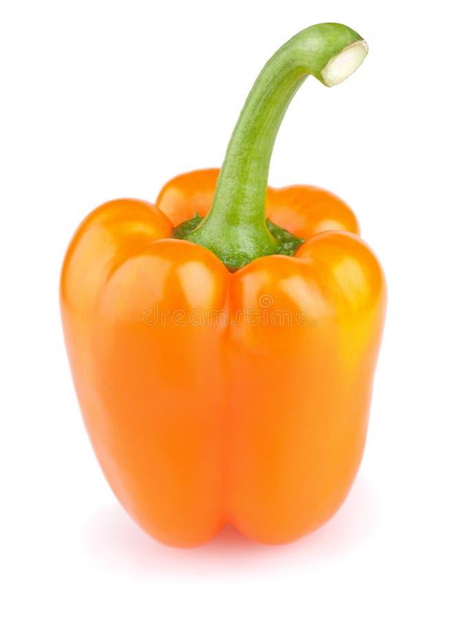 Free Orange Pepper Isolated On White Stock Photo - 19472380
